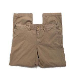 TORY BURCH Vintage Chino khaki crop pants